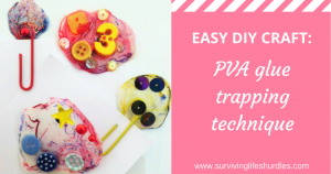easy diy craft, pva glue trapping technique