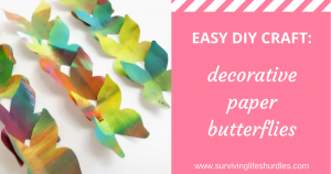 easy diy craft, decorative paper butterflies