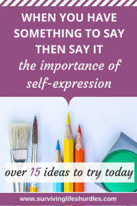 The importance of self-expression