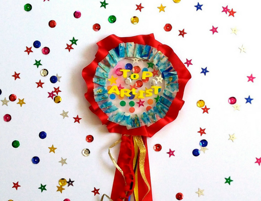 Easy DIY craft: Fun and fancy rosette